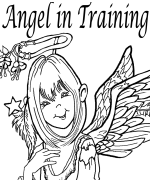 Angel In Training Coloring Page