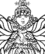 Angel With Dove Coloring Page