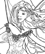 Dancing Fairy Coloring Page