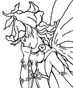 Fairy Gym Coloring Page