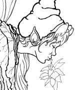 Kissing Fairy Coloring Page