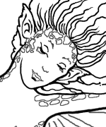 Leaping Mermaid Coloring Page