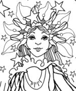 Light Angel Coloring Page