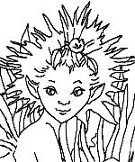 Lavender Fairy Coloring Page