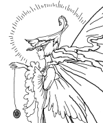 Fairy With YOYO Coloring Page