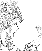 April Fairy Coloring Page