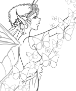 Butterfly Fairy Coloring Page