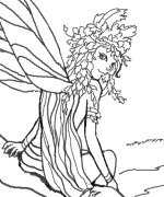Fairy Resting Place Coloring Page