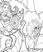 Mermaid Float Coloring Page