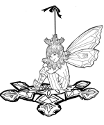 Fairy Snowflake Coloring Page