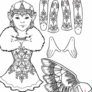 Christmas coloring and craft pages 2006 for Christmas fairy coloring pages
