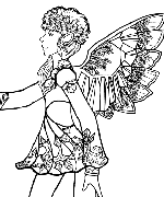 Snowflake Fairy Profile Coloring Page