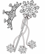Wand and Crown Coloring Page