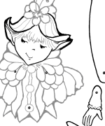 Stella Puppet Coloring Page