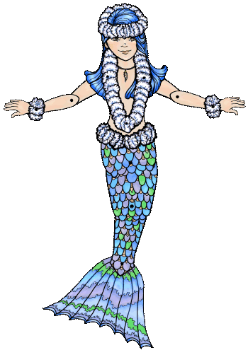 Mira Mermaid Puppet and Coloring Page