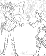 Puck & First Fairy Coloring Page