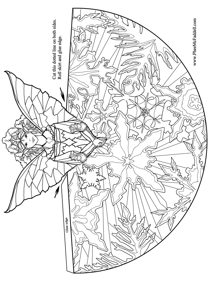 Fairy Princess Coloring and craft