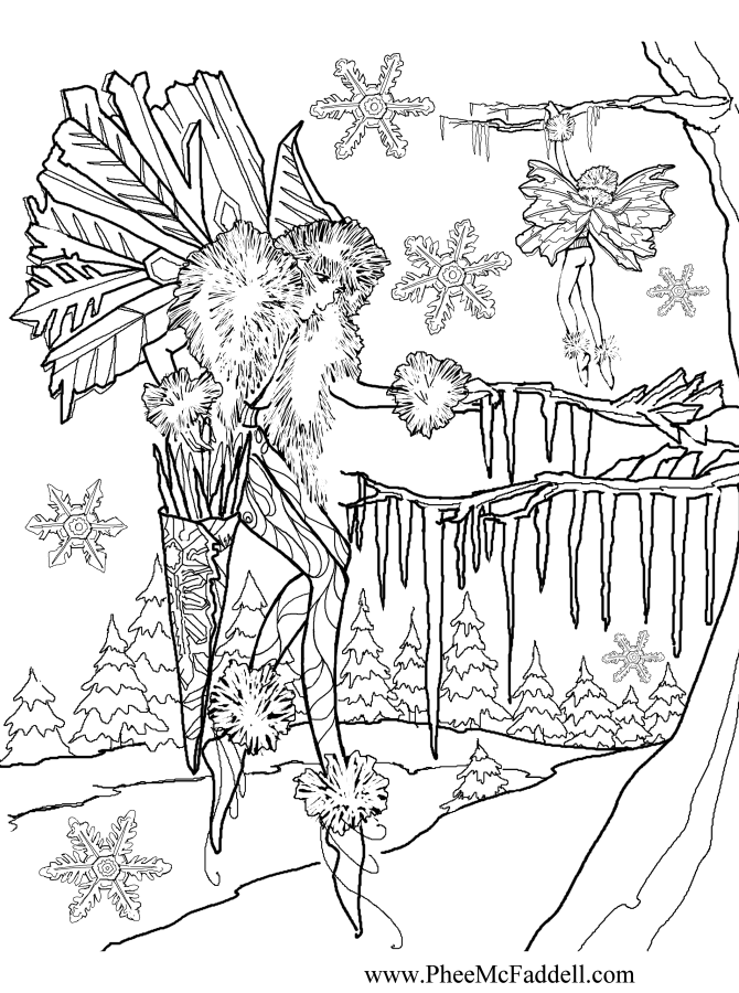 Hanging Icicles Coloring Page
