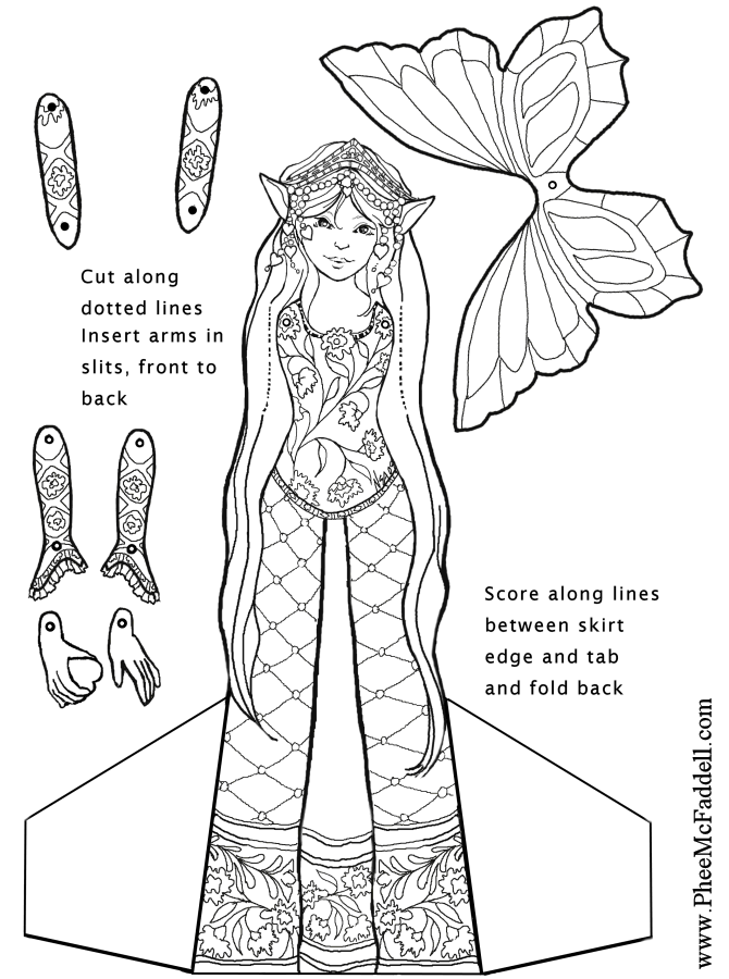 heart fairy puppet coloring page. Black Bedroom Furniture Sets. Home Design Ideas