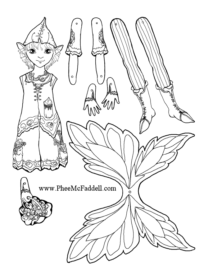 Mayfly Fairy Puppet coloring and craft Project www.pheemcfaddell.com