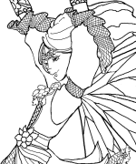 The whimsical realm of phee mcfaddell for Meadowlark coloring page